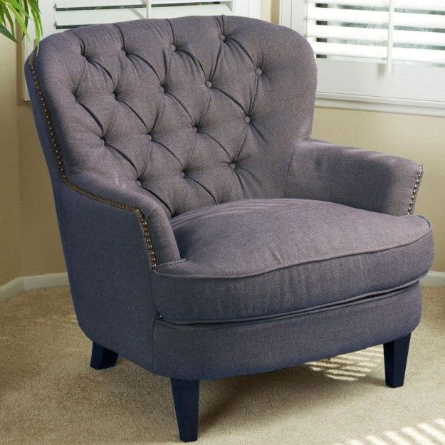 A tufted club chair with a firm seat will support you while you read or binge watch the latest superhero series. | 37 Of The Best Chairs You Can Get On Amazon