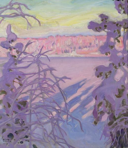 Akseli GALLEN-KALLELA - A Winter Landscape (1917), Peter Nahum at The Leicester Galleries, London, England.