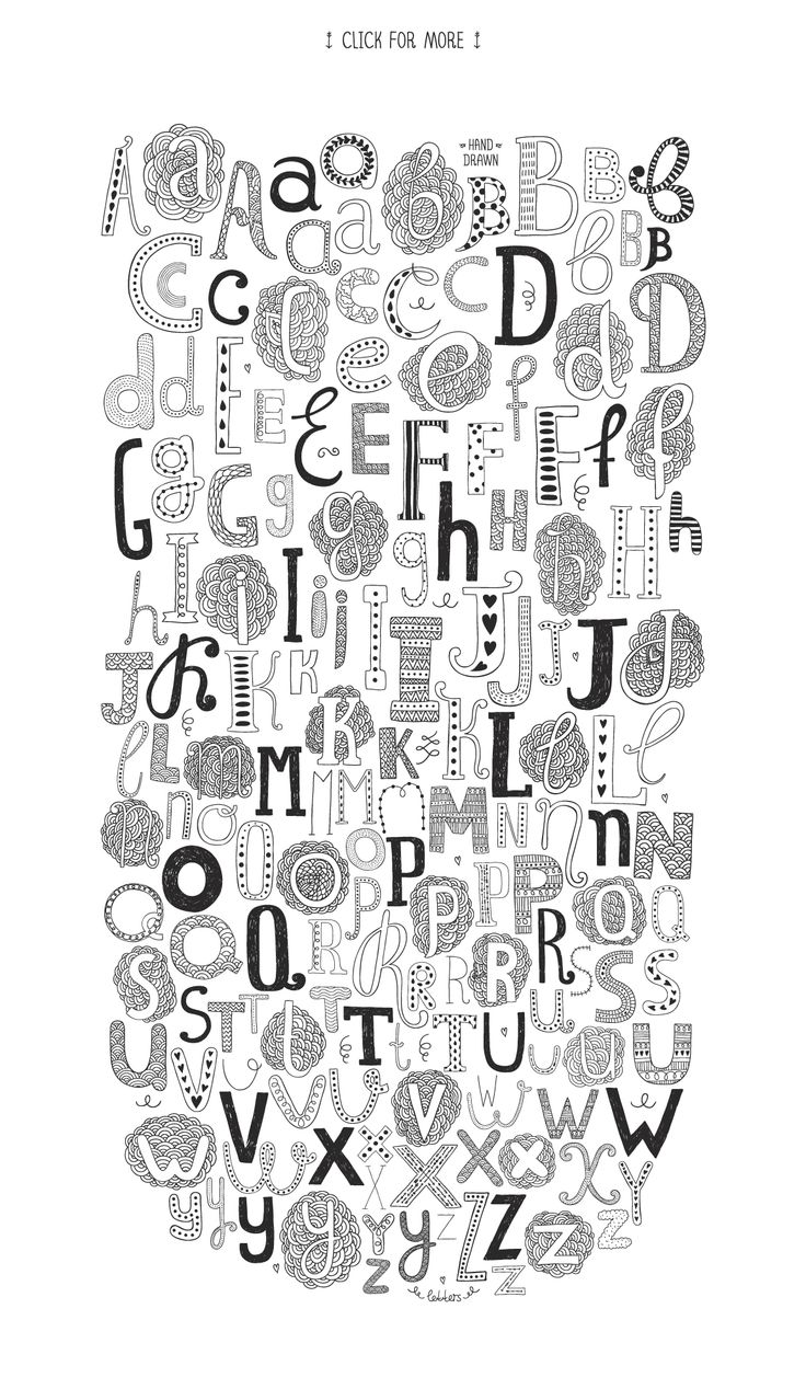 160 Hand drawn letters | Hand Lettering Alphabet