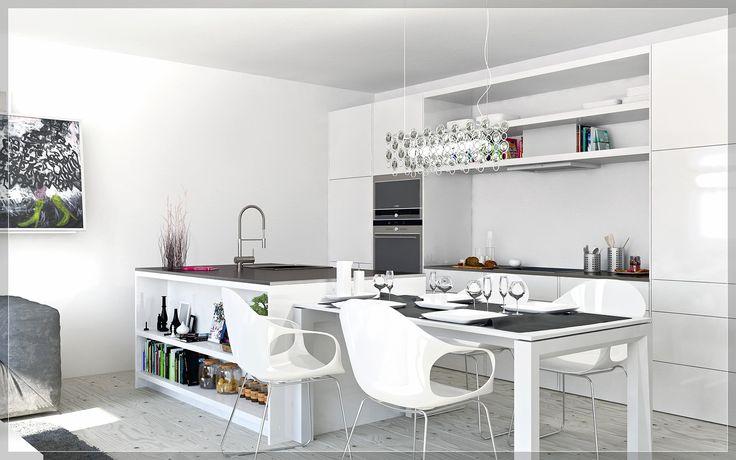 ikea kitchen designs layouts, 2 White kitchen diner