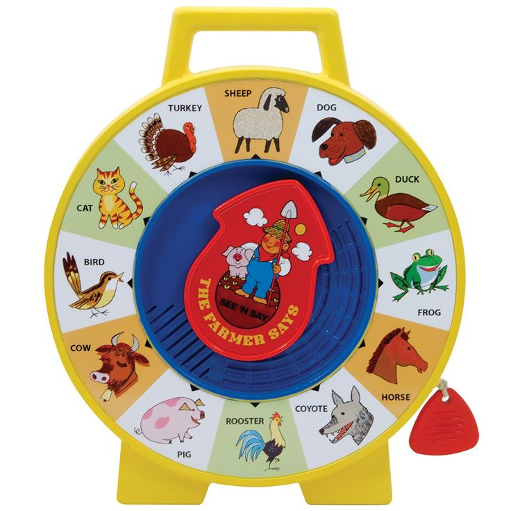 Learn about 12 different animals and the sounds they make! Just point the arrow and pull the cord to hear their sounds. Hours of fun for any little one! Since 1930, Fisher-Price has been in business t