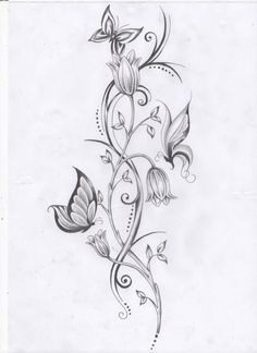 flower vine tattoos - Google Search
