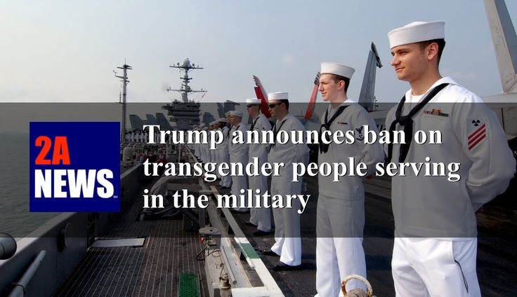 "President Trump announces ban on transgender people serving in the military.  President Trump announced on Wednesday the U.S. government will not allow transgender people to ""to serve in any capacity in the U.S. military.""  https://2anews.us/?p=6229  #Gender_Dysphoria, #Jim_Mattis, #Secretary_Ash_Carter, #Transgender_In_The_Military, #Trump, #National_Security, #Politics"