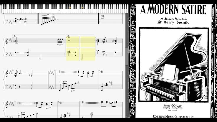A Modern Satire by Harry Sosnik (1929, Novelty piano)