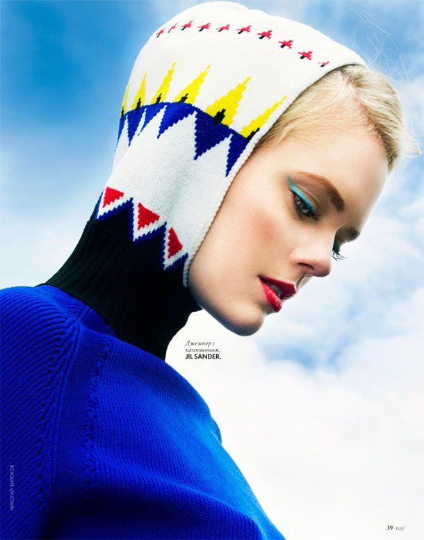 Hoodies are no longer just to be worn in the hood.     Isa Asklof by Nikolay Biryukov for Elle Ukraine January 2012