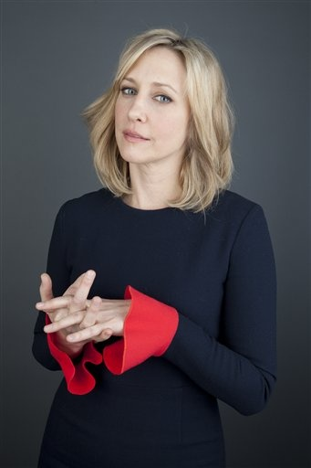 """Actress Vera Farmiga poses for a portrait on Monday, March 18, 2013 in New York. Farmiga stars as Norma Bates in the A series """"Bates Motel,"""" premiering Monday, March 18, 2013 at 10 p.m. (Photo by Amy Sussman/Invision/AP)"""