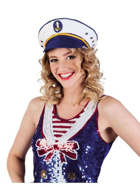 """https://11ter11ter.de/57008316.html Mütze """"Kapitän Joyce"""" in verschiedenen Größen #11ter11ter #Fasching #Mottoparty #Party #Outfit #Kostüm #Mütze #Marine #maritim"""