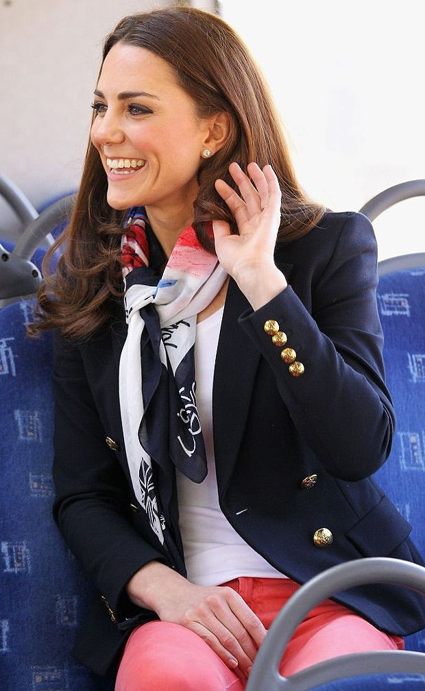Kate in Emilio Pucci blazer, March 2012
