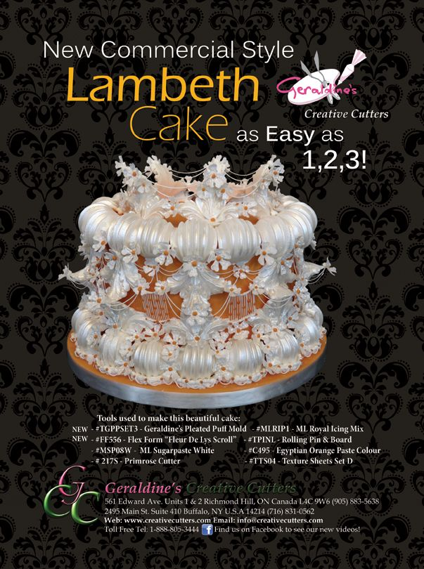 New Commercial Style Lambeth Cake! As Easy as 1,2,3! #cake #baking #CreativeCutters Cake made by Geraldine Randlesome from Creative Cutters.