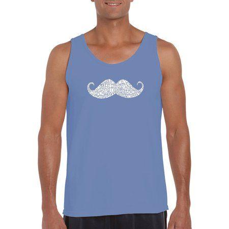 Los Angeles Pop Art Men's Tank Top - Ways To Style A Moustache