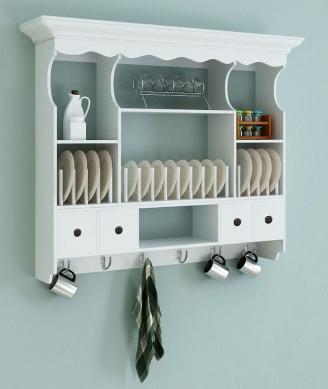 30 Wooden Wall Plate Rack Designs For Small Kitchen Kitchen Wall Cabinets Shabby Chic Kitchen Cabinets White Cupboards