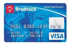 Cartão Visa Internacional Bradesco