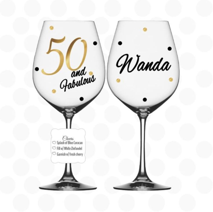 50th birthday - 50 and Fabulous wine glass name included - 50th birthday gift - 50th birthday gift for her by ZoeyChristina on Etsy https://www.etsy.com/listing/107213158/50th-birthday-50-and-fabulous-wine-glass