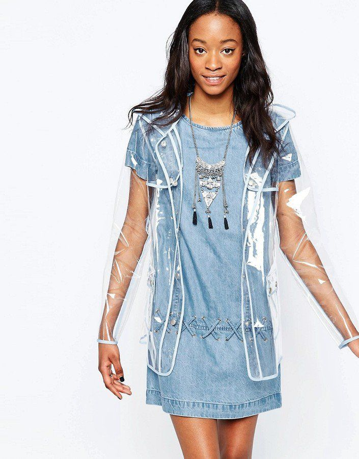 Pin for Later: Festival Drizzle Is No Match For These 23 Rain Macs  Glamorous Clear Festival Raincoat (£54)