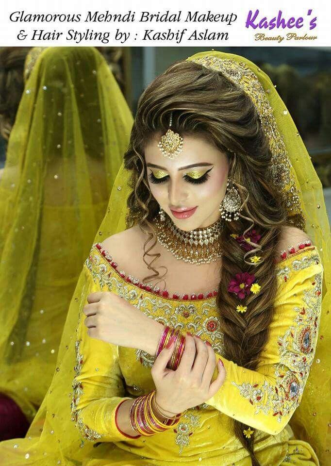 Beautifull bride  indian bride  Pakistani bridal hairstyles Pakistani bridal makeup Bridal hair