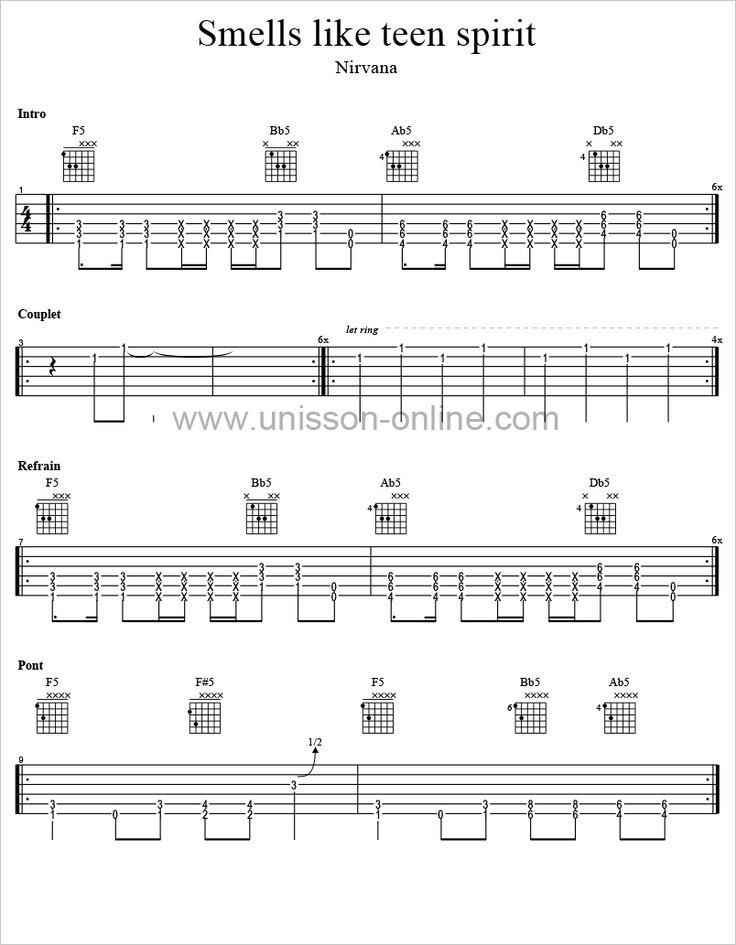 Nirvana - Smells Like Teen Spirit chords - myChordBook