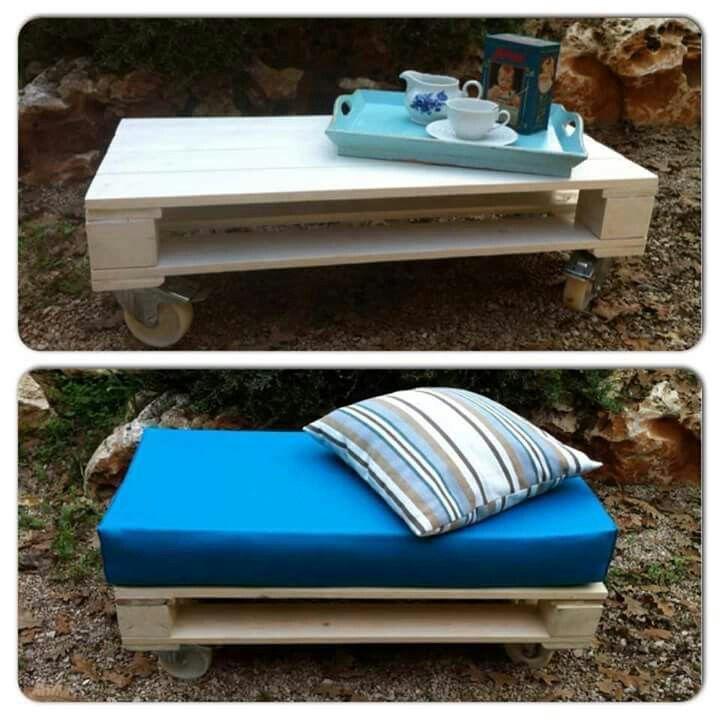 Tavolino - divanetti di bancali