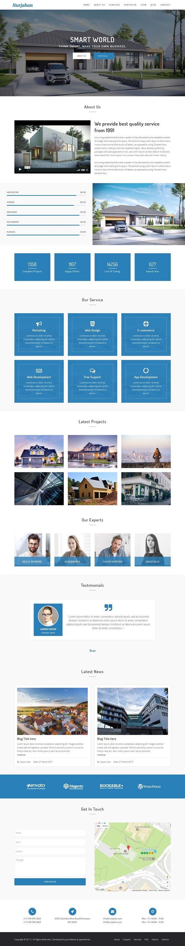 Nurjahan - Creative Architecture & Interior Business Joomla Theme   #joomla #theme #template #themeforest #envato #windstripethemes #business #mobile #responsive #interior #architecture #design #realestate