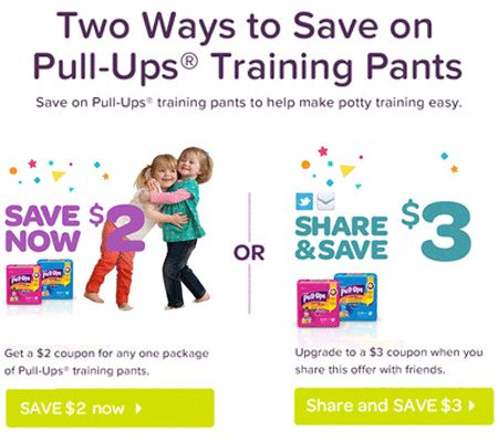 $2 or $3 off Pull-Ups Coupon – Print Now! = $5.99 at Wegmans!