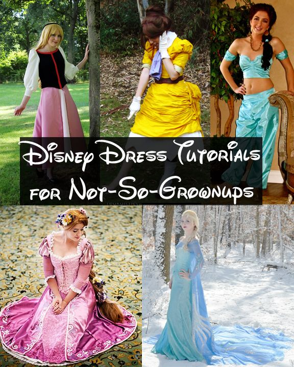 Happily Grim: Disney Dress Tutorials for Not-So-Grown-Ups Master list of cosplay tutorials for Disney (female characters)