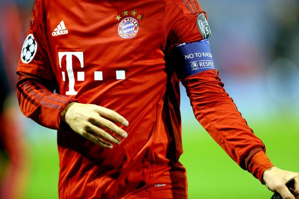 Muenchen`s team captains armband during the UEFA Champions League Group F match between GNK Dinamo Zagreb and FC Bayern Muenchen at Maksimir Stadium on December 9, 2015 in Zagreb, Croatia.