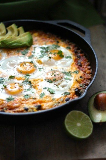 Quinoa and Egg Enchilada Skillet
