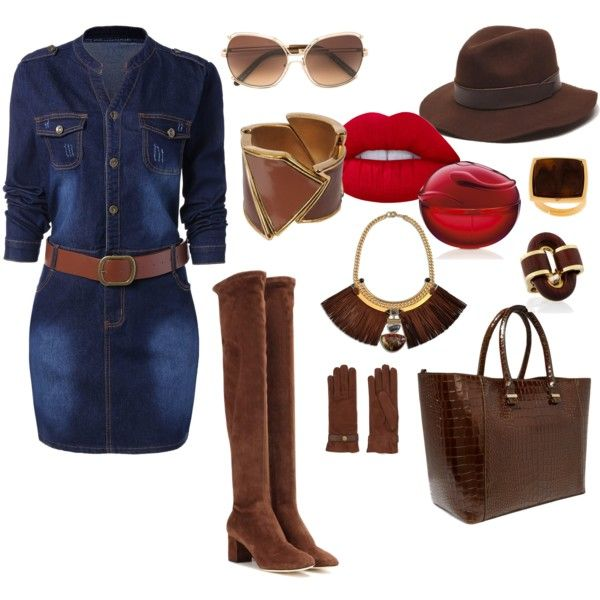 How to...Denim Chic by vicky-angelidou-pappas on Polyvore featuring Dolce&Gabbana, Victoria Beckham, Natalie Waldman, Trussardi, THEATRE PRODUCTS, Chloé, Causse, Gottex and Lime Crime