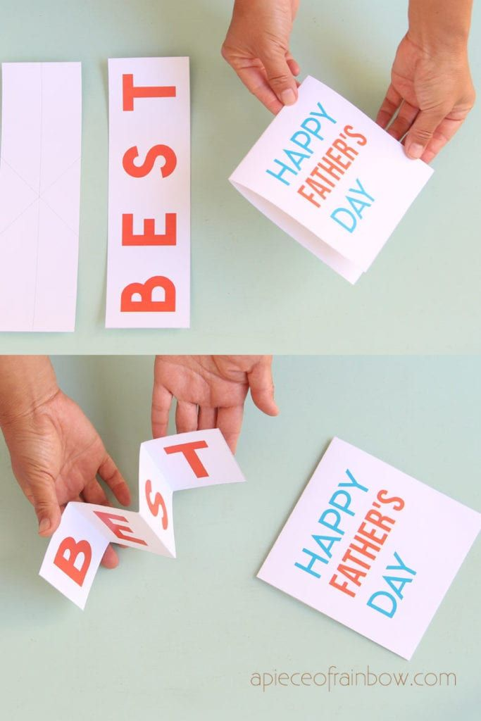 Easy Diy Pop Up Happy Father S Day Card Pop Up Card Templates Card Templates Printable Dad Birthday Card