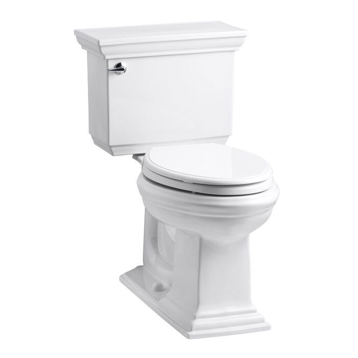 Memoirs Stately Comfort Height Two Piece Elongated 1 6 Gpf Toilet With Aquapiston Flush Technology And Left Hand Trip Lever Kohler Memoirs Water Sense Elongated Toilet Seat