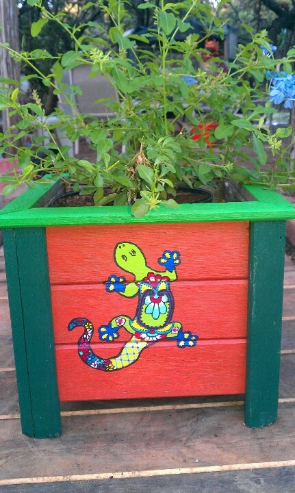 Hand Painted Planter Box Kyle S Suggestion Seahawks Theme