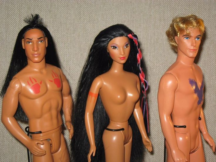Disney / Mattel Nude Dolls ~ POCAHONTAS ~ KOCOUM ~ JOHN SMITH ~ For OOAK Remake #Mattel #Dolls