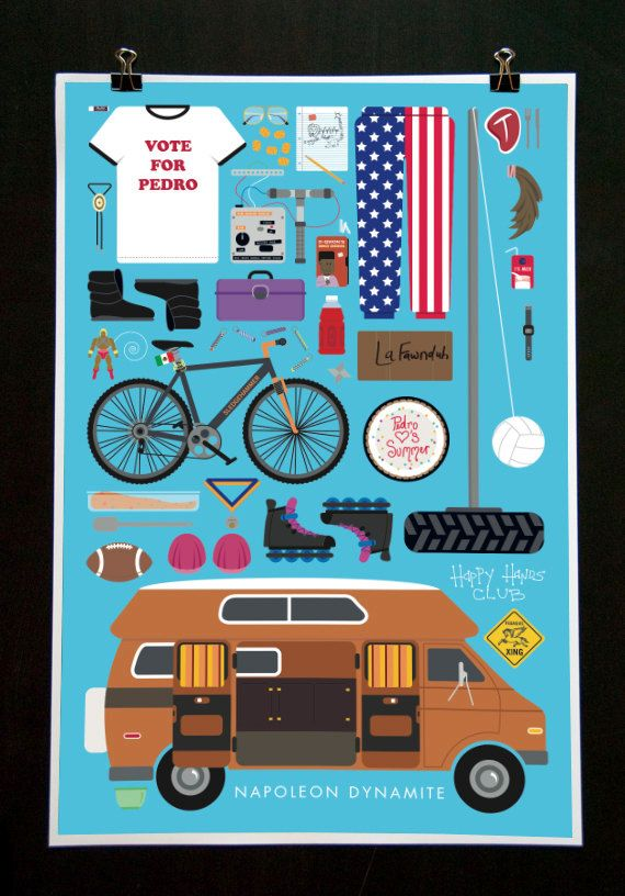 Napoleon Dynamite  Movie Parts Poster by EmmaButlerDesign on Etsy