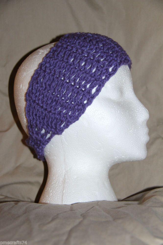 Crochet Hair For Adults : Crochet Unisex Teen/Adult headband earwarmer - fits most - Lavender ...