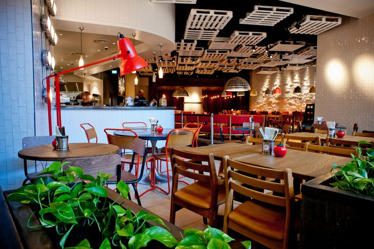 Gourmet Burger Kitchen, Bluewater makes use of the TRi-PIN-LED from Photec Lighting amongst wooden ceiling rafts #led #spotlight #lighting #restaurant