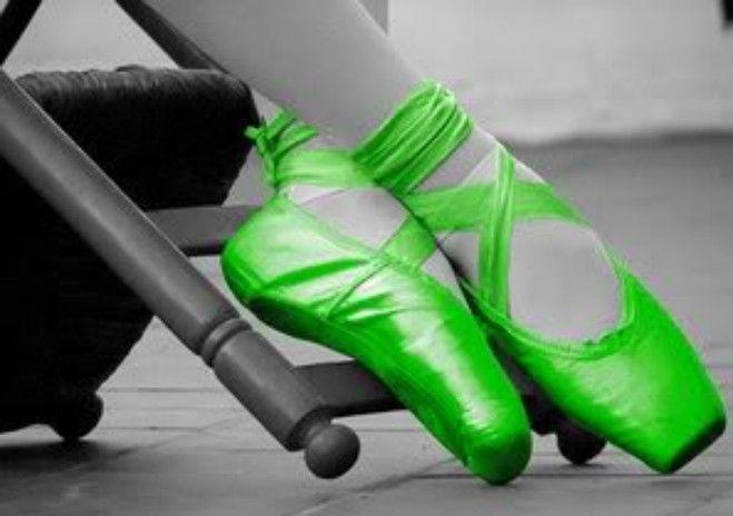 Fluorescent Green Ballet Shoes Ballet Pinterest