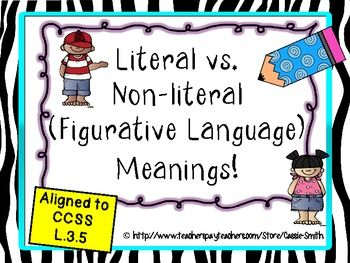 figurative language versus literal language essay Literal meaning is the most obvious or non-figurative sense of a word or words language that is not perceived as metaphorical or ironic.