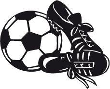 Pegatina Balón y Zapatillas de Fútbol D0003