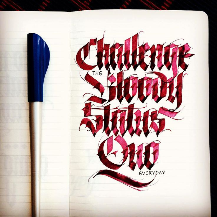 """Challenge the bloody staus quo everyday"""