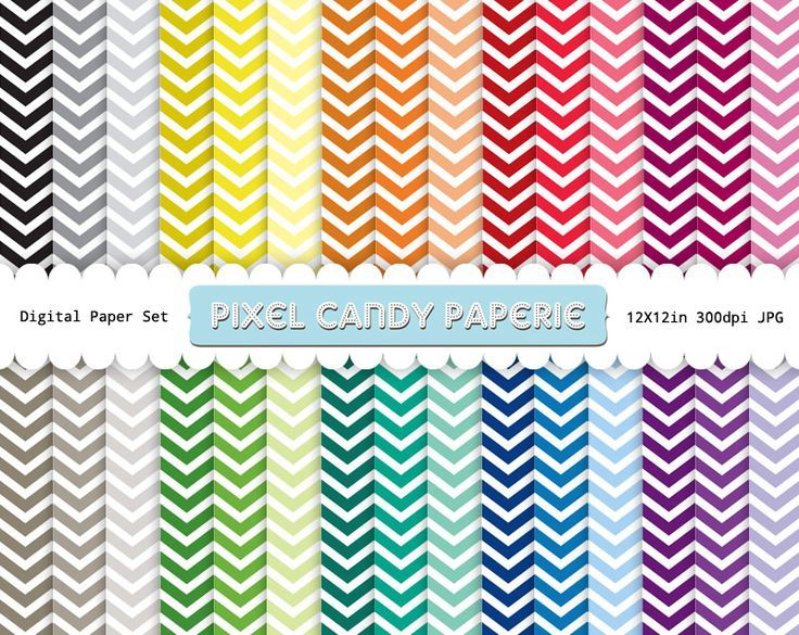 Use these chevron papers for backgrounds, patterns, printables, etc. The colors you get in this free download are purple, blue, teal, aqua, green, pink, magenta, red, orange, yellow, grey & bla...