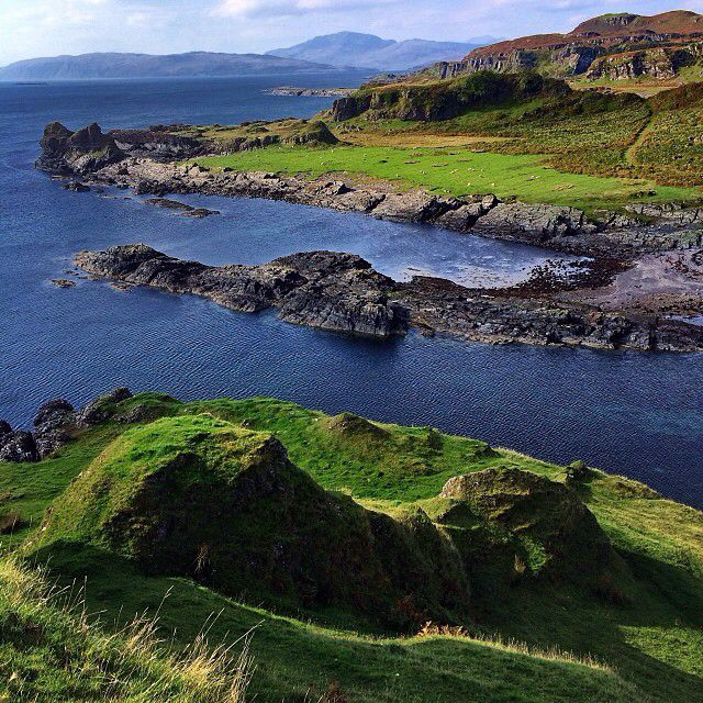 Rugged shore of the Isle of Kerrera near Oban, Scotland. Pretty day today. #proofscotland #natgeoproof #scotland #iphone