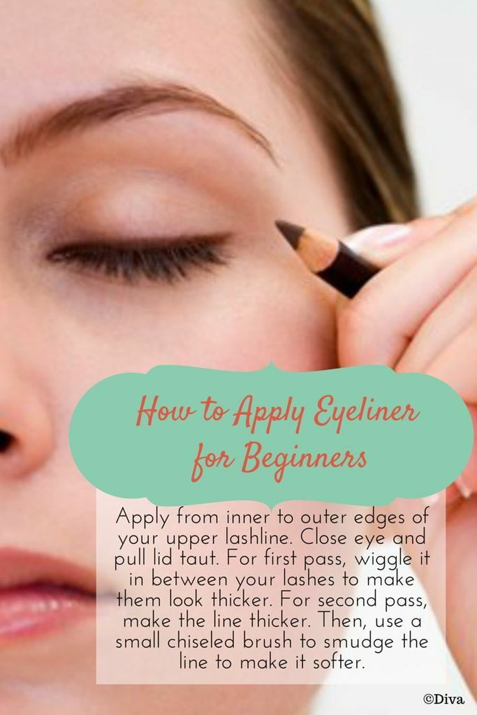 How To Apply Eyeliner for Beginners - From the inner to the outer edge of you upper lash line, wiggle the #eyeliner between your lashes and make the final application move slighter to create a perfect arc on your eye. Go on with smudging to add a complete look to your final makeup. #howto