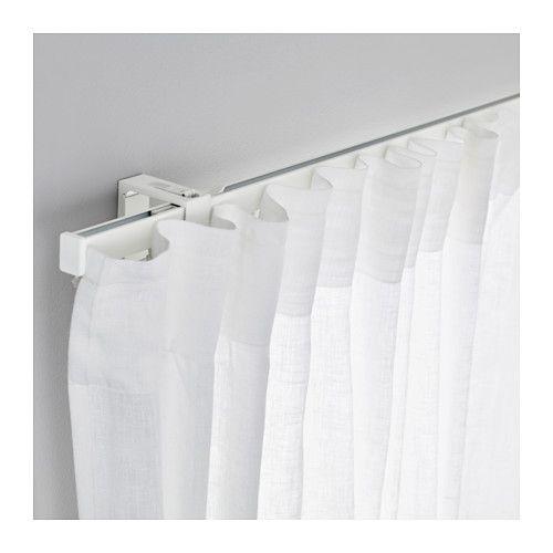 IKEA - VIDGA, Gardinenschiene 1-läufig, , Mit den beigepackten Verbindungsstücken lassen sich Schienen in unbegrenzter Länge aneinanderkoppeln.Mit den separat erhältlichen Decken-/Wandbefestigungen kann die Schiene an der Wand oder an der Decke befestigt werdenDie Gardinenschiene kann mit einer Bügelsäge das gewünschte Maß gekürzt werden.Zwei Gardinenlagen statt einer? Einfach die vorhandene Schiene mit einer weiteren ergänzen.
