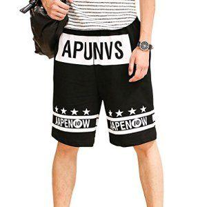 Fake Face Pantalon Shorts de Sport/Jogging Hip-Hop Basket-ball Baggy Casual Danse Sportive Tendance Rue Impression APUNVS – noir XL
