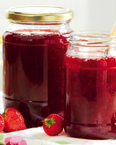 This Strawberry Jam recipe is dairy-free, gluten-free and vegetarian. Make this summer favourite for your family – or even make as a gift!