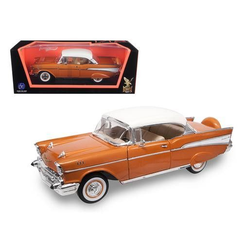 1957 Chevrolet Bel Air Hardtop Bronze 1/18 Diecast Model Car by Road Signature