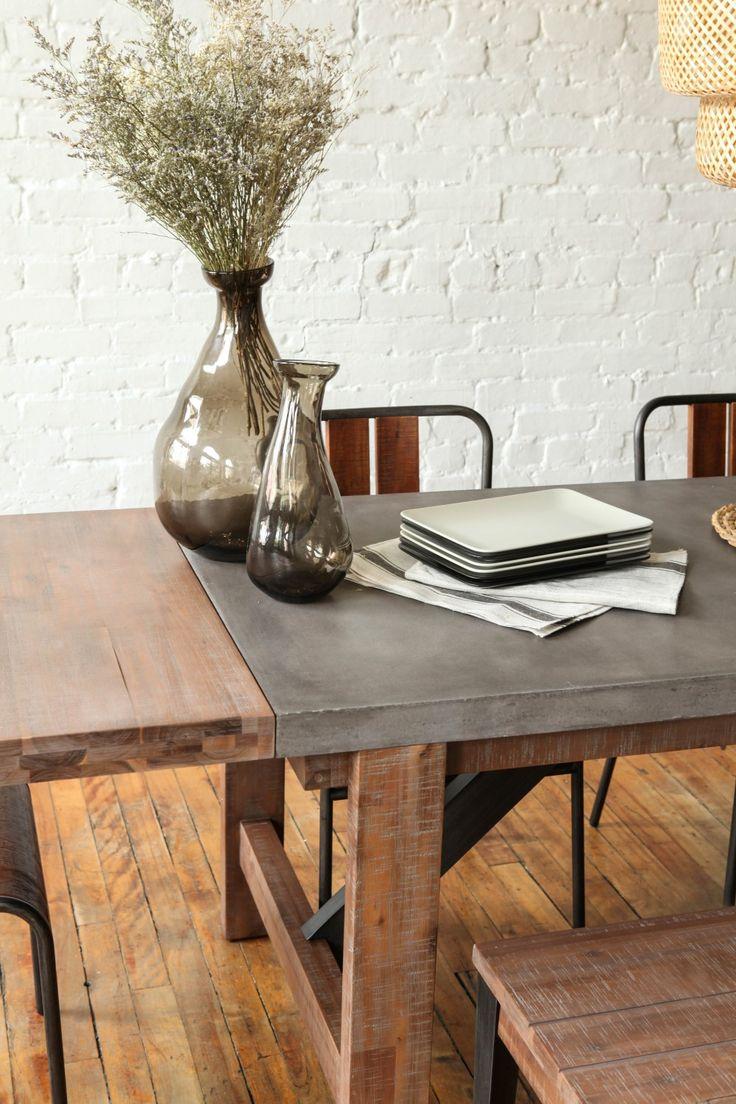 Viva plast wooden colours - Vega Concrete Dining Table 59 W Extension Tables Furniture