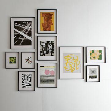 for a blank wall.: Picture, Wall Art, Blank Wall, Black Frames, Galleries Wall, Frames Arrangements, Photo, Art Wall, West Elm