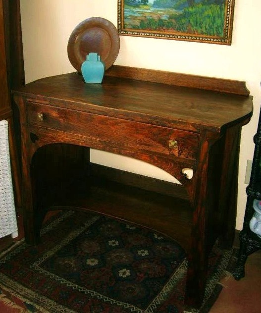 Antique Craftsman Mission Arts and Crafts Bungalow Quartersawn Oak  Sideboard Desk Spade Cutouts Stickley Limbert era Luce Furniture - 751 Best Arts & Crafts FURNITURE Images On Pinterest News, DIY