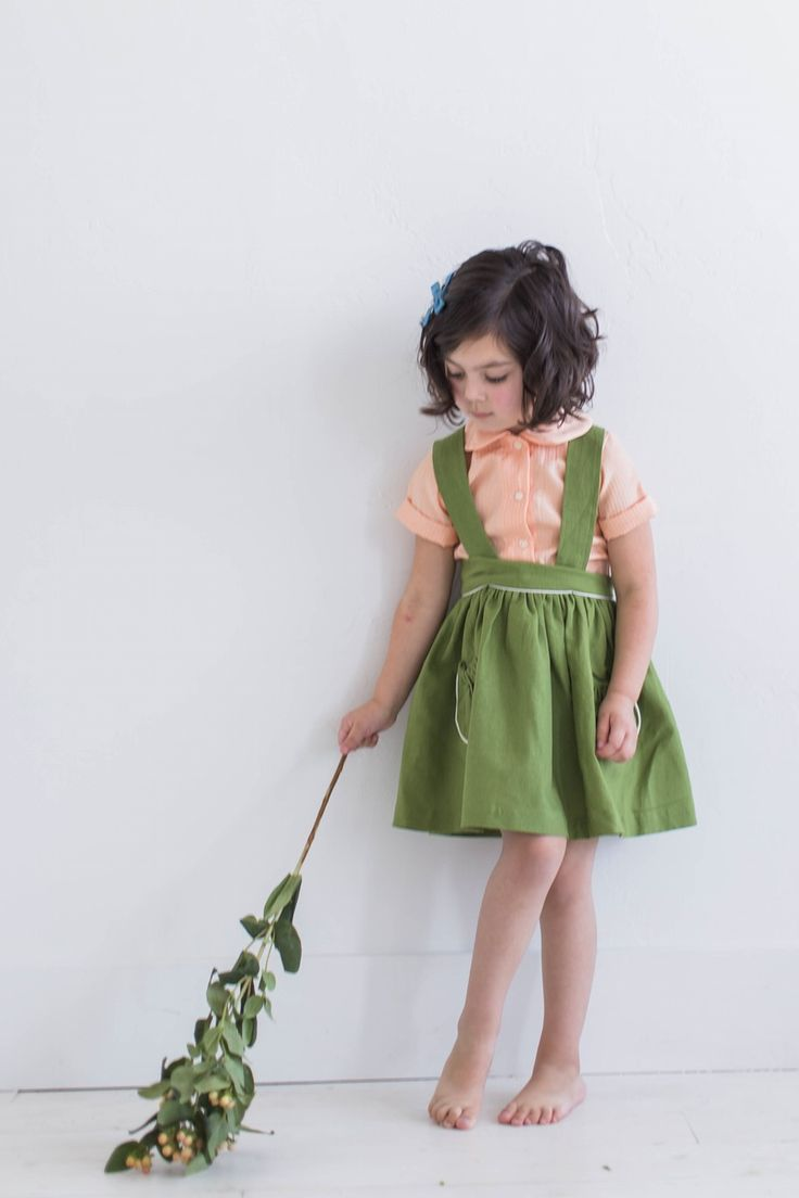 Image of the georgiana suspender skirt {emerald}