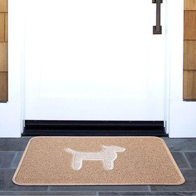 Smartcatcher Mat Dog Modern Door Mat Color: Latte